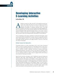 Developing Interactive E-Learning Activities