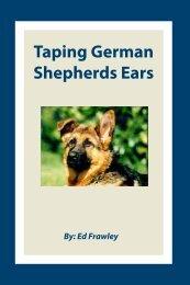 Taping German Shepherds  Ears - Leerburg