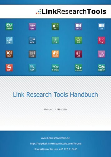 Link Research Tools Handbuch