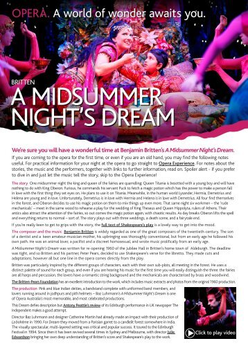 download a midsummer night's dream eguide - QPAC