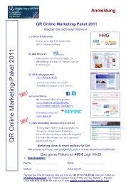 Abfrage Hotelinformationen QR Online Marketing-Paket 2011