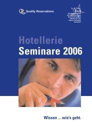 Unsere Seminar-Broschüre 2006 - Quality Reservations