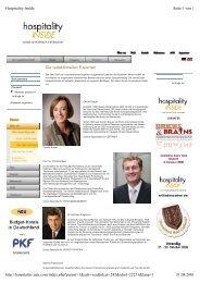 Die redaktionellen Experten Seite 1 von 3 Hospitality Inside 31.08 ...