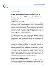 Quality Reservations verhalten optimistisch für 2010