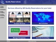 Join now! - Quality Reservations