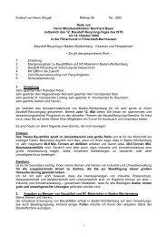 Entwurf von Herrn Wizgall Referat 46 Tel.: 2691 Rede von Herrn ...