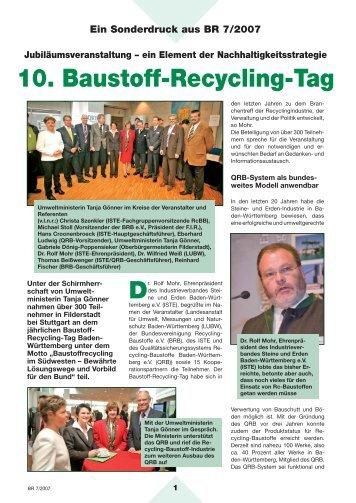 10. Baustoff-Recycling-Tag - Qualitätssicherungssystem Recycling ...