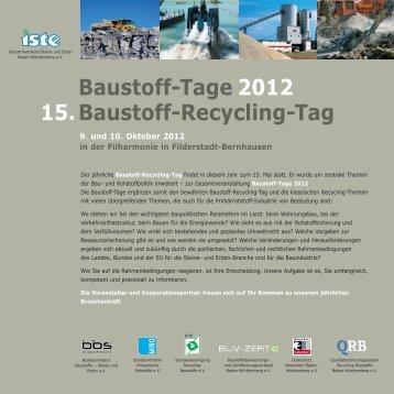 Baustoff-Tage 2012 15.Baustoff-Recycling-Tag