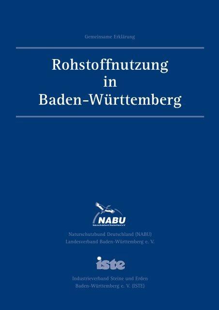 Rohstoffnutzung in Baden-Württemberg - Qualitätssicherungssystem ...