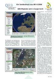 Pressebericht der BR 4/2006 zu Google Earth