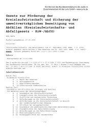 und Abfallgesetz - KrW- / AbfG - LANUV NRW
