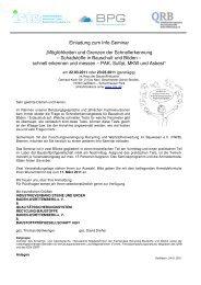 Einladung zum Info-Seminar - Qualitätssicherungssystem Recycling ...
