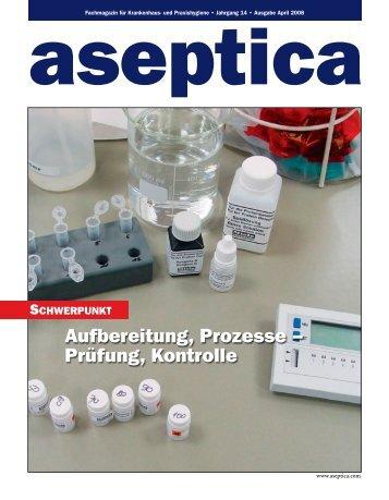 Aufbereitung, Prozesse – Prüfung, Kontrolle - aseptica