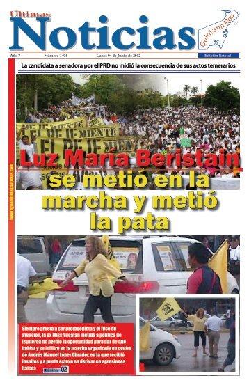 La candidata a senadora por el PRD no midió la - Ultimas Noticias ...
