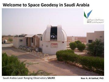 Welcome to Space Geodesy in Saudi Arabia