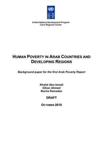 Poverty and Hunger in Arab States - Qatar Statistics Authority ...