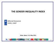 THE GENDER INEQUALITY INDEX