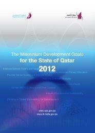 Millennium Development Goals 2012 - Qatar Statistics Authority ...