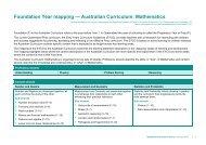 Foundation Year mapping — Australian Curriculum - Queensland ...