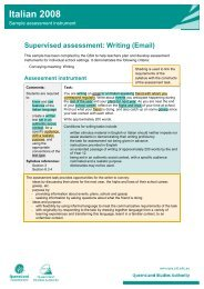 Supervised assessment: Writing (Email)