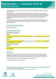 Mathematics — numeracy (Year 9) - Queensland Studies Authority