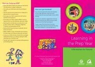Learning in the Prep Year - Queensland Studies Authority