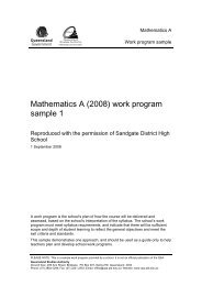 Sample work program 1 - Queensland Studies Authority