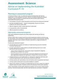 Assessment: Science - Queensland Studies Authority