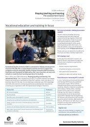 Vocational education and training in focus - Queensland Studies ...