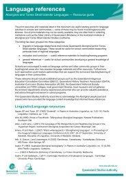 Language references - Queensland Studies Authority