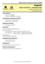 Paper Two Part A — Question book - Queensland Studies Authority