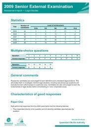 Assessment report - Queensland Studies Authority