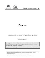 Drama (2007) - Work program sample 1 - Queensland Studies ...