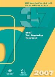2007 Test Reporting Handbook - Queensland Studies Authority
