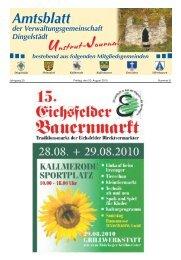 Amtsblatt - Verwaltungsgemeinschaft Dingelstädt
