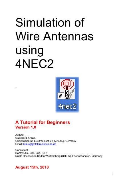 Simulation of Wire Antennas using 4NEC2 - QSL net