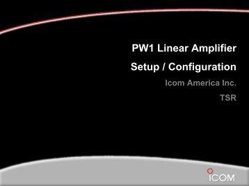 PW1 Linear Amplifier Setup / Configuration - QSL.net