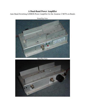 wide band amplifier broadbanding techniques pdf