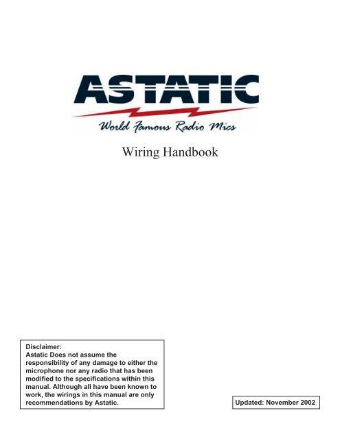 Astatic microphone wiring handbook
