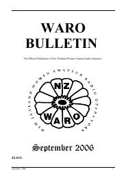 WARO Bulletin September 2006 ( pdf 555 kb ) - QSL.net