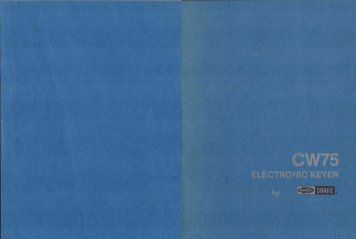 Drake CW75 Electronic Keyer Operator's Manual (1.3 MB ... - QSL.net