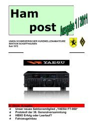In dieser Ausgabe Unser neues Sektionsmitglied ... - QSLNET.de