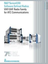 Rohde & Schwarz Series 4200 VHF SDR - QSLNET.de