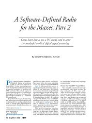 A Software-Defined Radio for the Masses, Part 2 - ARRL