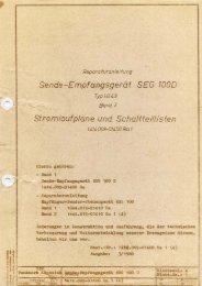 Reparaturanleitung Band 2 Teil 1 Color SEG100(PDF ... - QSLNET.de