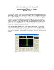 Software Defined Radios for VHF Through SHF By Gerald ... - TAPR