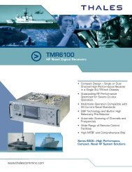 TMR6100 HF Naval Digital Receivers - Thales Communications, Inc.