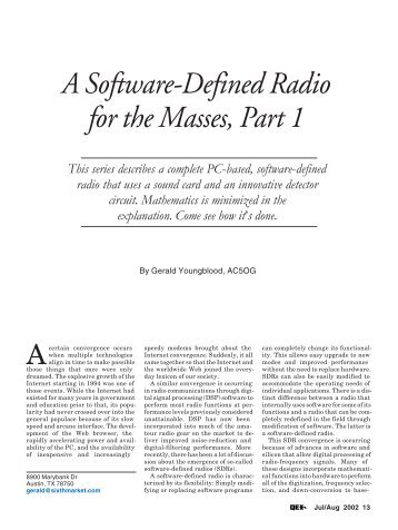 A Software-Defined Radio for the Masses, Part 1 - ARRL