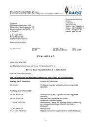 Protokoll der DARC Mitgliederversammlung am ... - www qslnet de