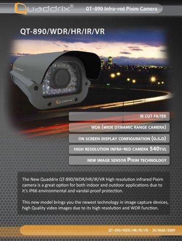 QT-890/WDR/HR/IR/VR - Quaddrix Technologies